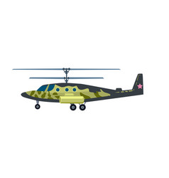 attack helicopter isolated icon vector image vector image