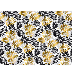black and gold luxury tropical leaves seamless vector image vector image