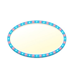blank 3d oval light banner with shining lights vector image vector image