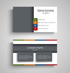 Business card with colored bookmarks template vector