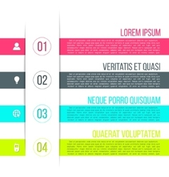 business process steps infographic template vector image vector image