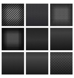 Carbon and fiber texture seamless pattern vector image