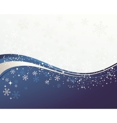 Christmas blue background with snowflakes vector