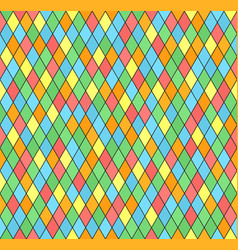 Diamond pattern seamless multicolor vector