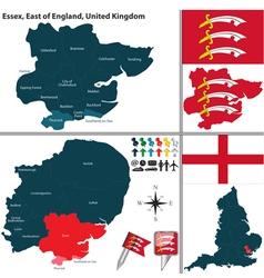 Essex east of england vector