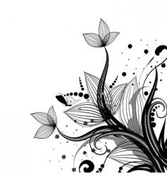 flower corner vector image
