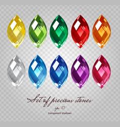 Gemstones set vector