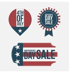 Independence Day 4th of July Banners Set vector image vector image