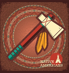 Indian american tomahawk vector image