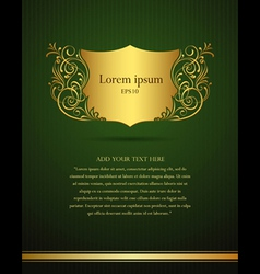 invitation vintage frame vector image