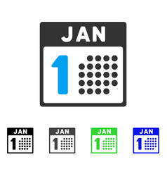 January first flat icon vector