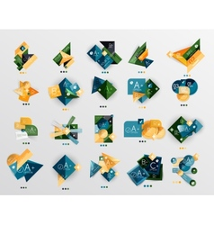 Modern abstract geometric info banner set vector image