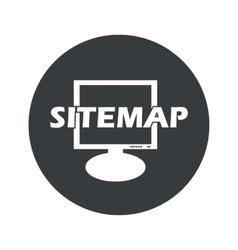 Monochrome round sitemap icon vector