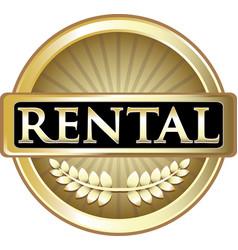 Rental gold icon vector