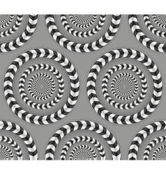 Rotating circles optical seamless pattern vector