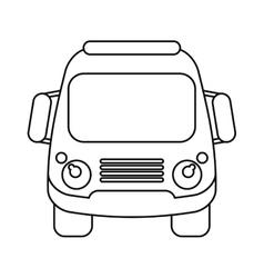 School bus student transport outline vector