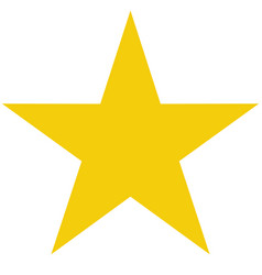 Star icon on white background flat rank yellow vector