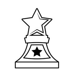 Stars trophy awards outline design vector