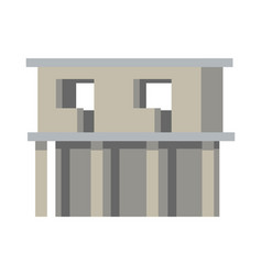 Unfinished building without doors and windows vector