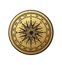 Vintage compass wind rose symbol vector image