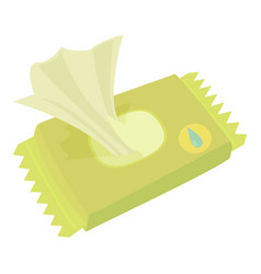 Wet wipe pack icon cartoon style vector