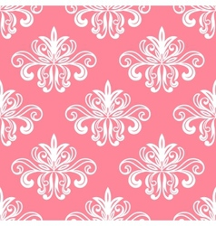 White on pink floral seamless pattern vector