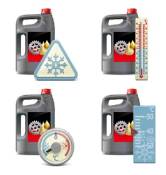 Winter oil icons vector