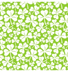 Seamless pattern with clover leaf vector