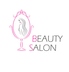 logo template for beauty salon vector image