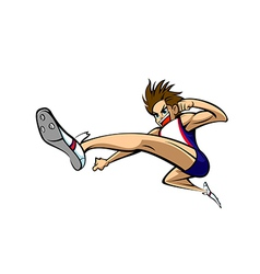 Side view of man jumping vector image