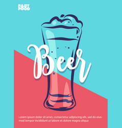 Beer poster with cool design vector