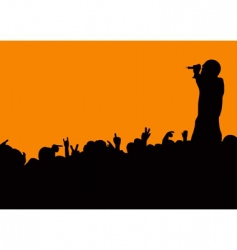 concert crowd wave vector image