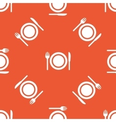 Orange dishware pattern vector