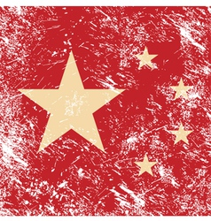 China retro flag vector