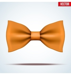 Realistic orange bow tie vector