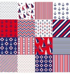 Pattern with nautical elements vector