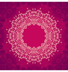 Abstract mandala frame vector