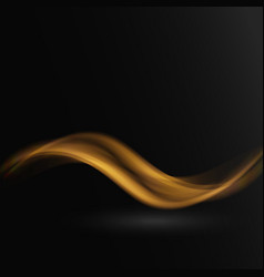 Abstract waves on black background vector