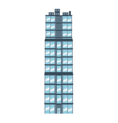 Building glasses construction modern style vector