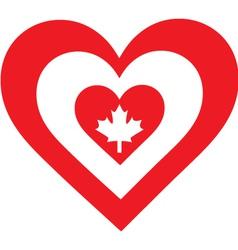 Canada Heart vector image vector image