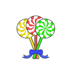Candy lolipop christmas gift vector