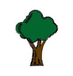 Cartoon tree natural forest foliage ecology icon vector