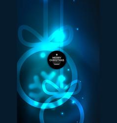 christmas baubles magic dark background vector image