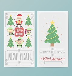 christmas card design Layout template vector image vector image