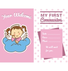 communion girl vector image vector image