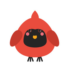 Cute cardinal bird icon vector