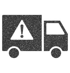 Danger transport truck icon rubber stamp vector