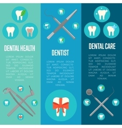 Dental banners set with crosswise instruments vector image vector image