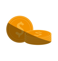 Dollar coins icon imag vector