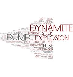 Dynamite word cloud concept vector